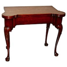 George II Mahogany Games Table with Concertina Action