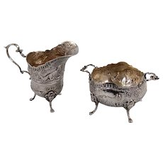 Italian Silver Creamer and Sugar by Kremos
