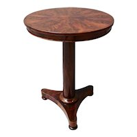 Empire Mahogany Occasional Table with Tripod Base