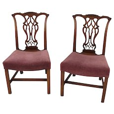 Chippendale Mahogany Side Chairs