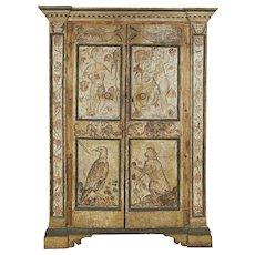 Italian Baroque Painted Armoire