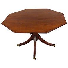 English Regency 19th Century Octagonal Table