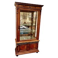 French Neoclassical Style Walnut Showcase