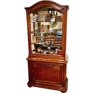 Louis XV Style French Oak Showcase