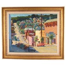 Oil on Canvas by Jerrold Turner: Early Second Street Crockett