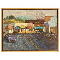 Oil on Masonite by Jerrold Turner of Marin County Town