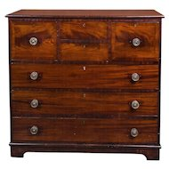 18th Century Crotch Mahogany Chest of Drawers