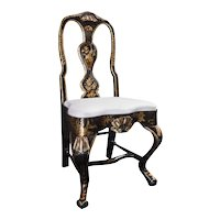 Dining Chairs With Gold Chinoiserie - (Set of 6)