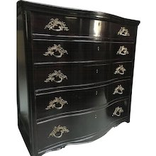 Vintage Continental Serpentine Chest of Drawers
