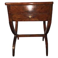 18th Century Walnut Sewing Box on Stand