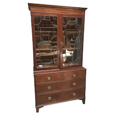 19th Century Mahogany Secretaire Bookcase