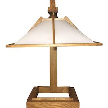 An Oak Table Lamp