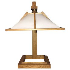 An Oak Table Lamp
