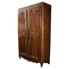 18th Century French Cherry Wood Armoire