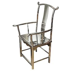 Stainless Steel Minister Hat Armchair