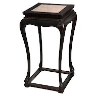 A Black Elmwood Flower Stand, 19th Century