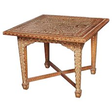 Bone Inlaid Table