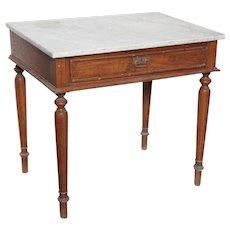 Side Table with Marble Top from Indonesia