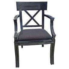 Neo classic Empire Style Black Armchair