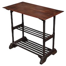 Side Table with Two Shelves