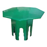 A Green Lacquered Octagonal Table