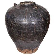 An Indian Glazed Clay Pot