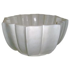 Large White Marble Bowl