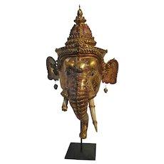 A Khon Dance Mask of Ganesha