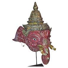 A Small Khon Dance Mask of Ganesha