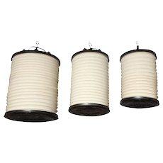 Bronze and Canvas Turkish Lanterns