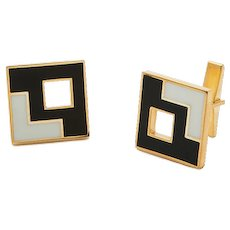 Sandrina Cufflinks Large-Blue/Gray