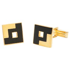 Sandrina Cufflinks-Black/White