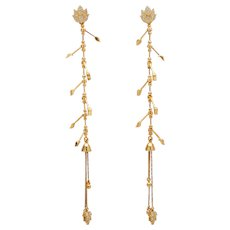 Agapi Floral Shoulder Duster for Agapi Stud Earring