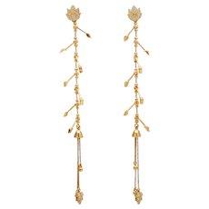 Agapi Floral Shoulder Duster for Agapi Stud Earring