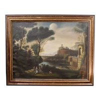 American 19th Century Classical Landscape in the Manner of Claude Lorrain