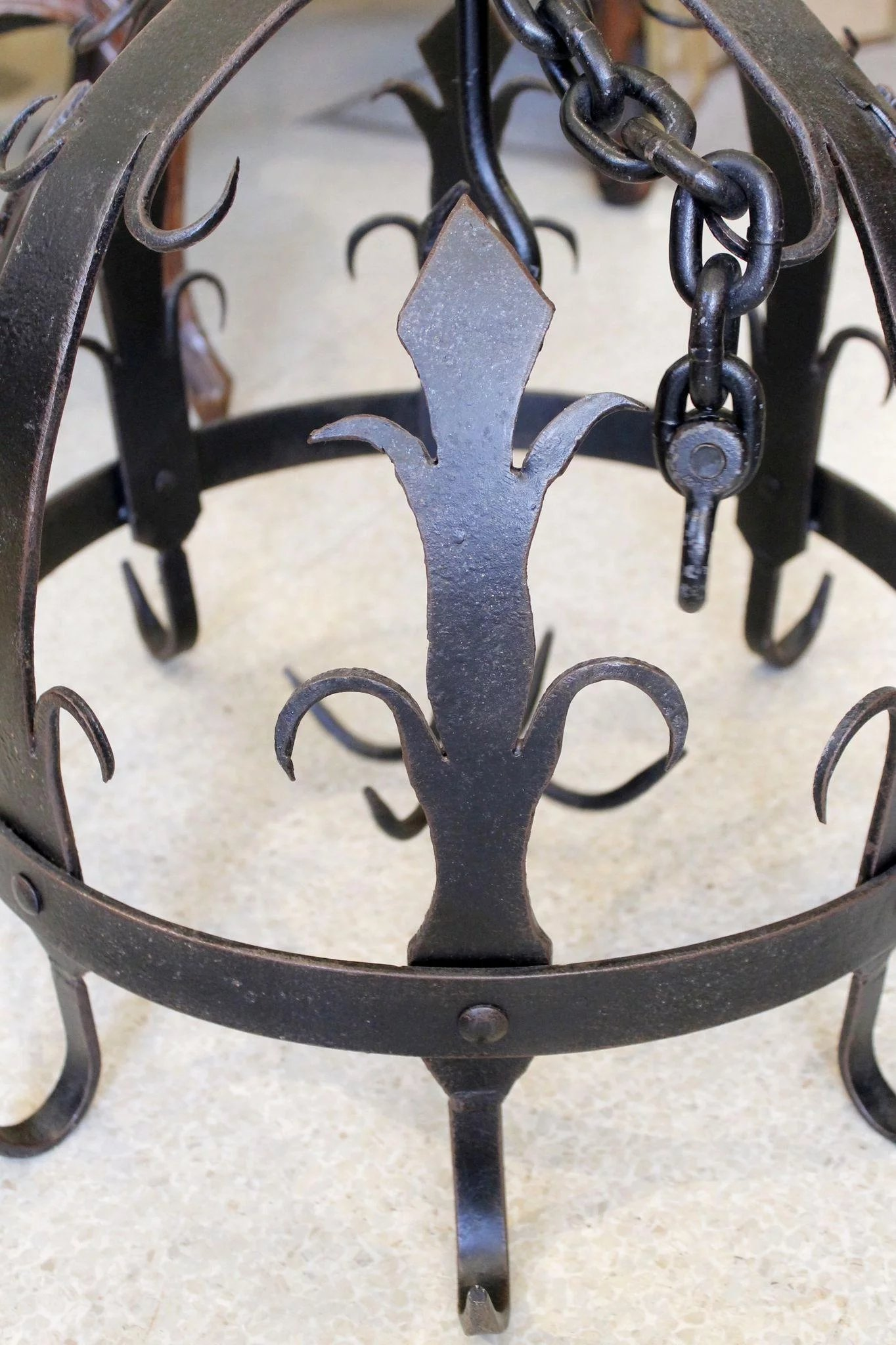 Ornamental Wrought Iron Pot Or Herb Drying Rack
