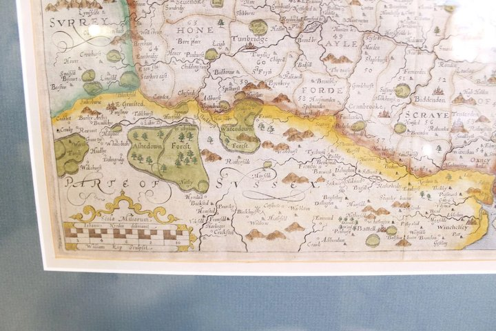 Map Of England Kent.17th Century Map Of Kent England By William Kip And Johannes Nordon