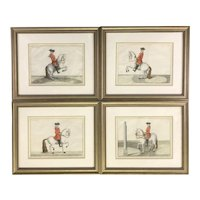 "Set of Four Dressage Engravings from ""Déscription du manège moderne dans sa perfection,"" 1727"