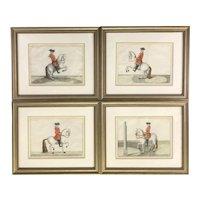 """Set of Four Dressage Engravings from """"Déscription du manège moderne dans sa perfection,"""" 1727"""