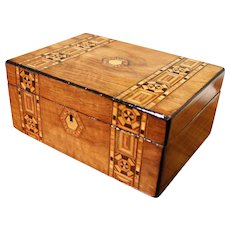 English Tunbridge Ware Marquetry Box