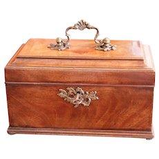 Fine Early George III Period Mahogany Box with Fine Hardware, 18th Century