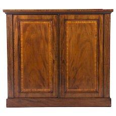 English Inlaid Mahogany Edwardian Period Cabinet
