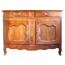 Provincial French Cherry Sideboard Or Buffet, 19th Century