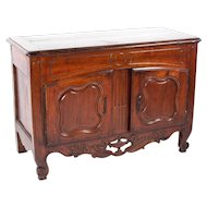 French Provençal Fruitwood Buffet with Carved and Pierced Skirt