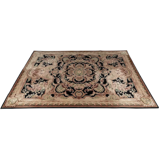 French Savonnerie Style Wool Carpet