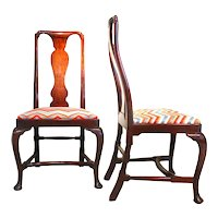 Pair of Walnut George I - George II Period Side Chairs, Early 18th Century