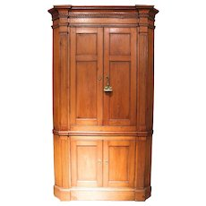 Federal Mid-Atlantic Pine Corner Cupboard