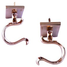 Pair of Brass Fireplace Fire Tool Holders