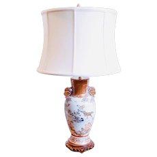 Japanese Satsuma Ware Porcelain Vase Lamp