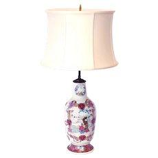 Fine Kakiemon Famille Rose Porcelain Japanese Vase Lamp